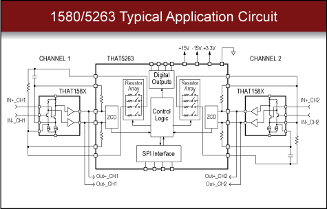 THAT 1570/5263 Digital Microphone Preamp Circuit